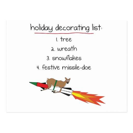 Missile-Daine - carte postale drôle de vacances