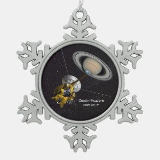 Mission de Cassini Huygens à Saturn Ornement Flocon De Neige