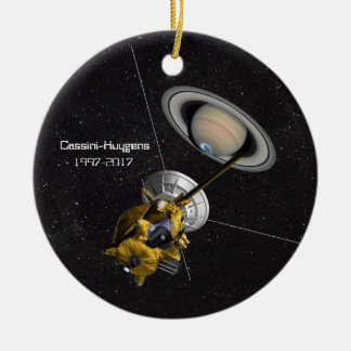 Mission de Cassini Huygens à Saturn Ornement Rond En Céramique