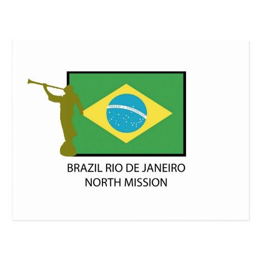 MISSION DU NORD LDS DE RIO DE JANEIRO DU BRÉSIL CARTE POSTALE