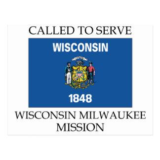 Mission du Wisconsin Milwaukee LDS appelée pour Carte Postale