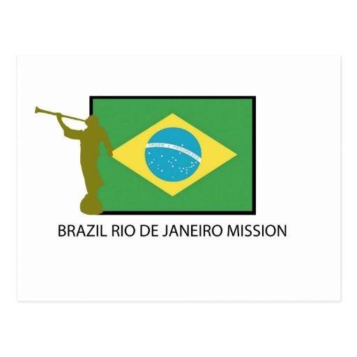 MISSION LDS DE RIO DE JANEIRO DU BRÉSIL CARTES POSTALES