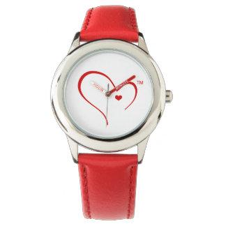 Mitaines pour la montre-bracelet de logo de coeur montres bracelet