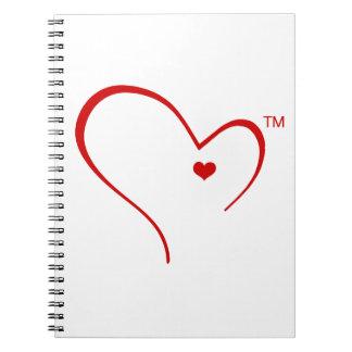 Mitaines pour le carnet de logo de coeur de
