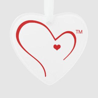 Mitaines pour l'ornement de coeur de logo de coeur