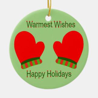 Mitaines rouges de vacances (souhaits chauds de va décorations de noël