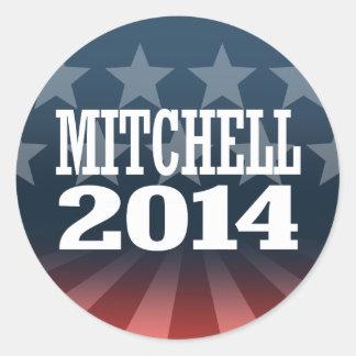 MITCHELL 2014 AUTOCOLLANT ROND