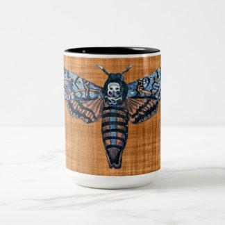 Mite de la tête de mort, aka mite d'atropo de sphi mug bicolore