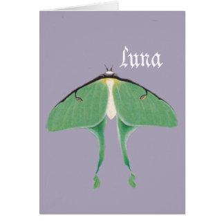Mite de Luna Carte De Vœux