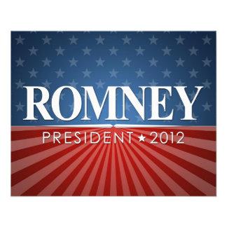 Mitt Romney pour le président 2012 Prospectus Personnalisés