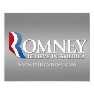 Mitt Romney pour le président 2012 Prospectus Customisé