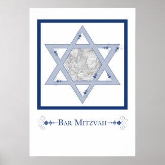 mitzvah de barre (cadeau de photo d'élégance affiches