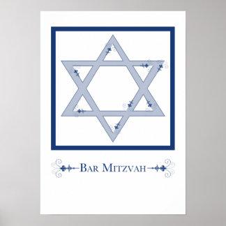 mitzvah de barre (élégance d'étoile de David) Posters