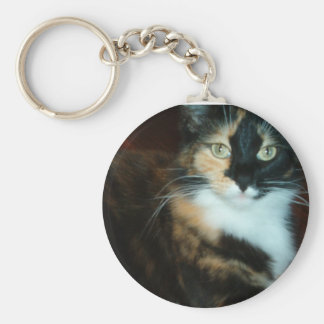Mlle Calico Kitty Porte-clé Rond