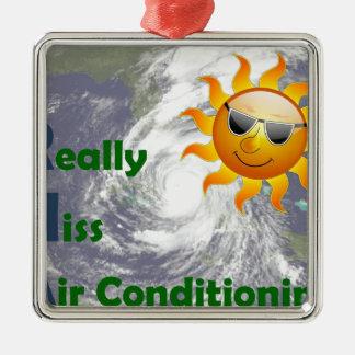 Mlle climatisation d'IRMA I vraiment Ornement Carré Argenté