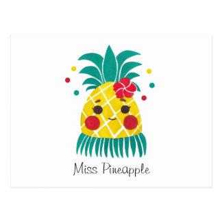 Mlle Hawaiian Pineapple Carte Postale