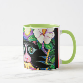 Mlle Jazz Kitty Magnolia Mud Mug