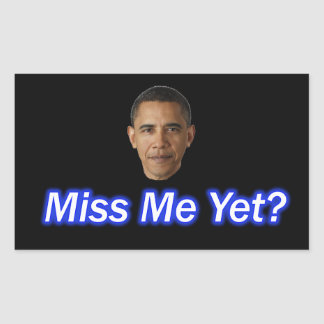 MLLE ME YET ? PRÉSIDENT BARACK OBAMA STICKER RECTANGULAIRE