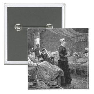 Mlle Nightingale dans l'hôpital de caserne Badge