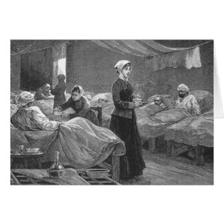 Mlle Nightingale dans l'hôpital de caserne Carte De Vœux