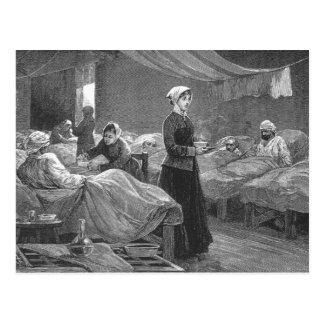 Mlle Nightingale dans l'hôpital de caserne Carte Postale