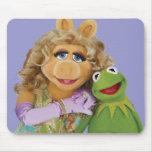 Mlle Piggy et Kermit Tapis De Souris