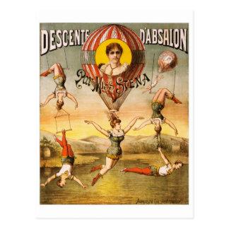 Mlle Stena de pair de d'Absalon de Descente Carte Postale