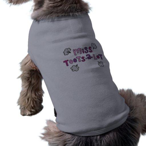 Mlle Toots-un-Sort Funny Dog Shirt Manteau Pour Toutous