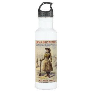Mlle vintage Annie Oakley, cow-girl occidentale Bouteille D'eau En Acier Inoxydable