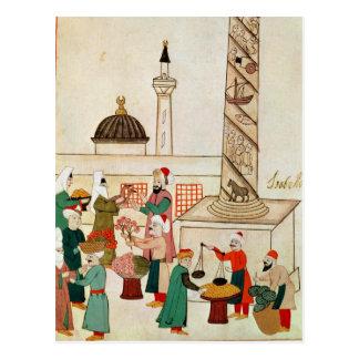 Mme 1671 un bazar à Istanbul, c.1580 Carte Postale