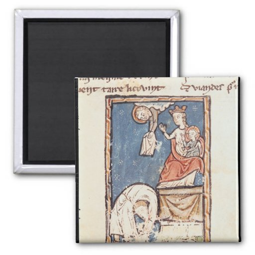 Mme 3516 f.127 le jongleur de Notre Dame Magnets Pour Réfrigérateur