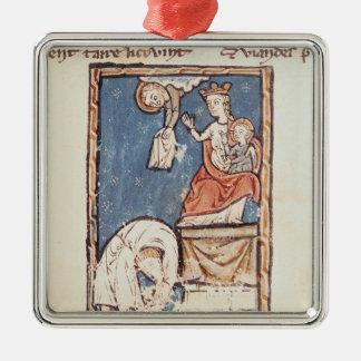Mme 3516 f.127 le jongleur de Notre Dame Ornement Carré Argenté