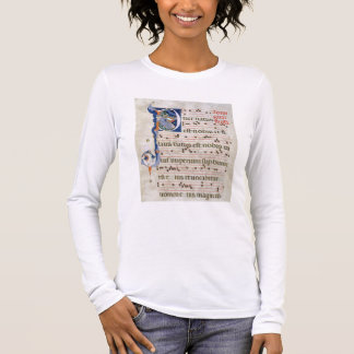 "Mme 561 page avec ""P"" initial historiated T-shirt À Manches Longues"