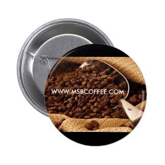 Mme B Coffee - norme, bouton rond de pouce de 2 ¼ Badge
