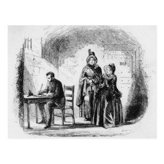 Mme Bagnet retourne de son expédition Carte Postale