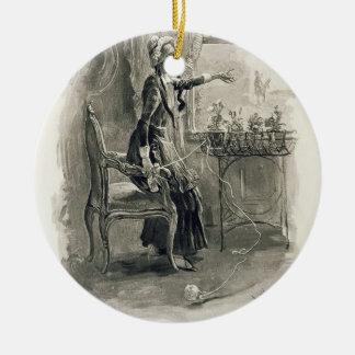 Mme Betsy Trotwood, de 'Charles Dickens : Un Gossi Ornement Rond En Céramique