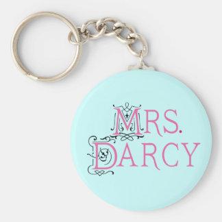 Mme Darcy Gift de Jane Austen Porte-clé Rond