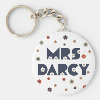 Mme Darcy Keychain Porte-clé Rond
