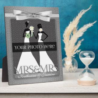 Mme et cadre de Mme Lesbian Gay Wedding Photo dans Plaques D'affichage