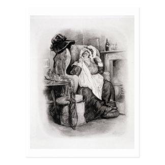 Mme Gamp, de 'Charles Dickens : Un bavardage au Carte Postale