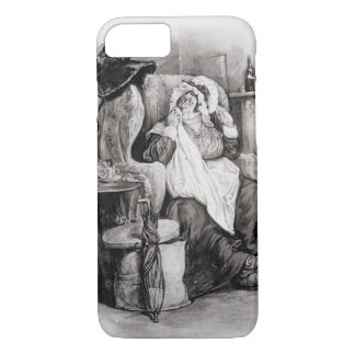 Mme Gamp, de 'Charles Dickens : Un bavardage au Coque iPhone 8/7