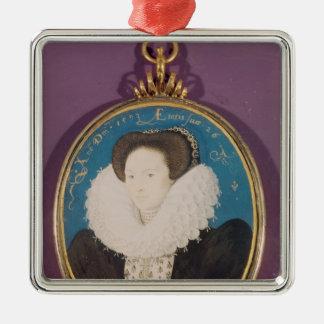 Mme Hollande, âgée 26, 1593 Ornement Carré Argenté