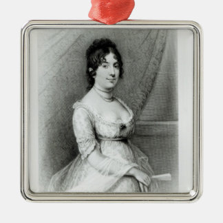 Mme James Madison, Dolley Payne, c.1804-55 Ornement Carré Argenté