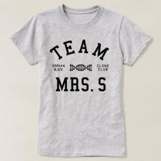 Mme noire orpheline S d'équipe T-shirt