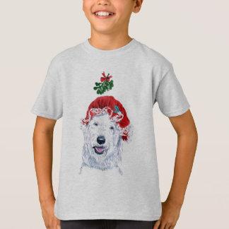 Mme Père Noël Labradoodle Kids T-shirt