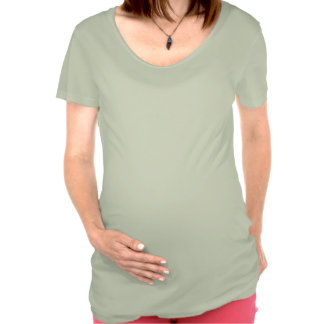 Mme Schwangerschafts T-shirt vert Kickin ` bébé