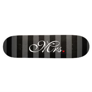 Mme Wife Bride His Hers l'épouse nouvellement Skateboard