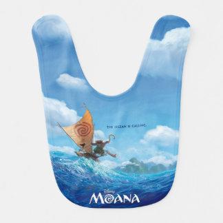Moana | que l'océan appelle bavoir pour bébé