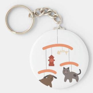 Mobile animal porte-clé rond