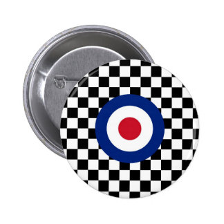 Mod de emballage noir Checkered de cible Badge